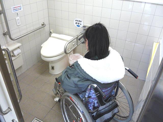 身障者用トイレ内部の画像 クリック・Enterで拡大