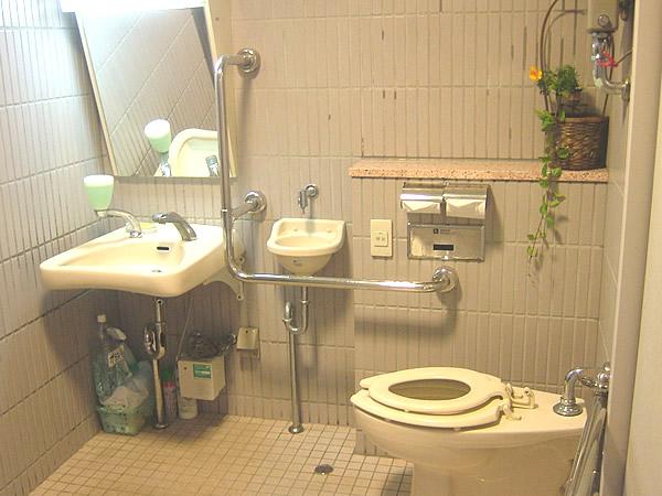 1階車いすトイレ内部の画像 クリック・Enterで拡大