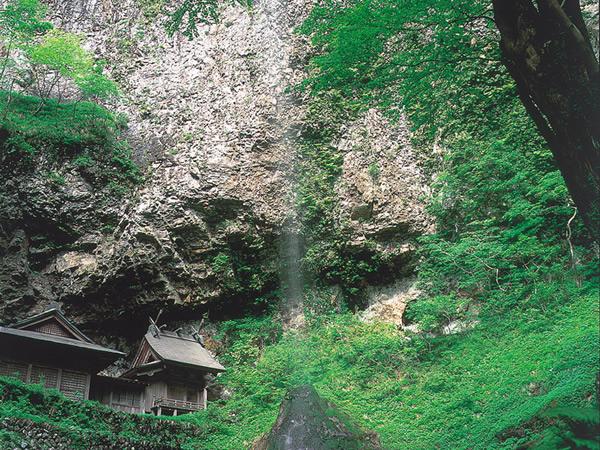 壇鏡の滝の写真