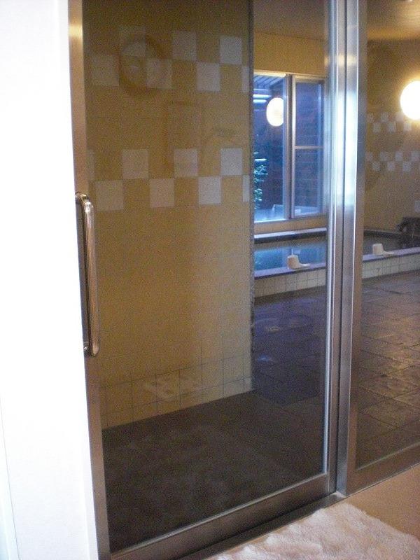 大浴場 浴室入口の画像 クリック・Enterで拡大
