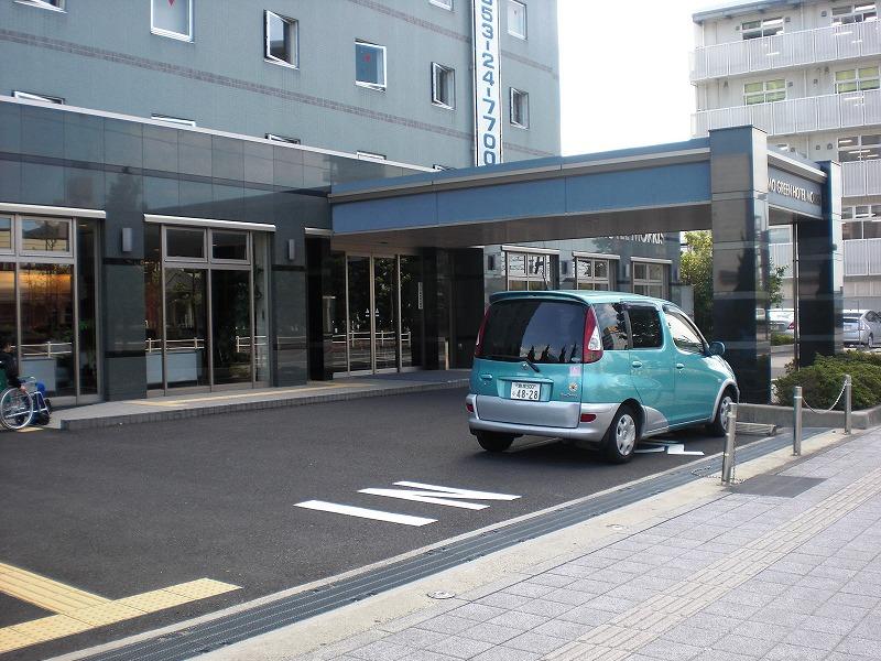 入口近くにある身障者用駐車場の画像 クリック・Enterで拡大