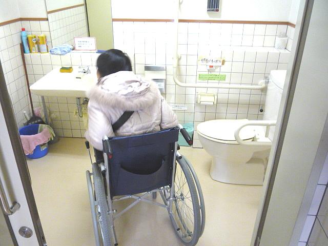 休憩施設の身障者トイレ内部の画像 クリック・Enterで拡大
