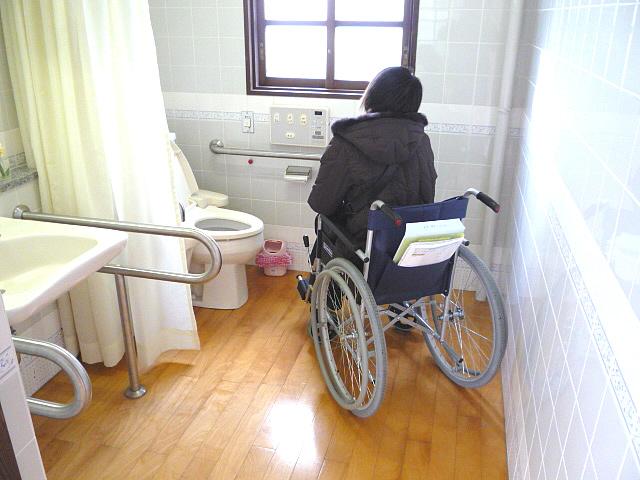 「町並み交流センター」身障者トイレ内部の画像 クリック・Enterで拡大