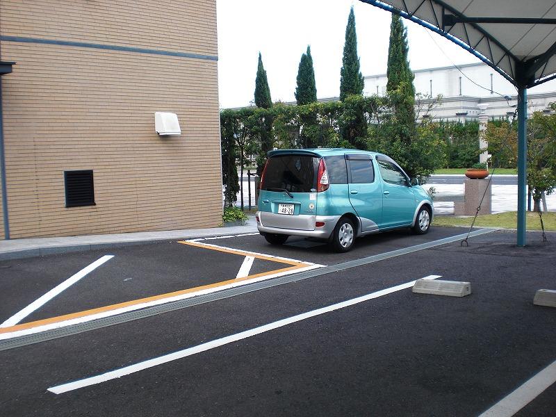 身障者用駐車場の画像 クリック・Enterで拡大