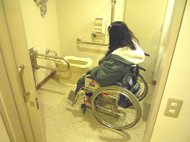 バリアフリールームの身障者トイレの画像 クリック・Enterで拡大