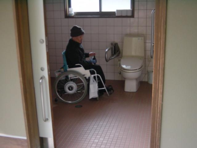 身障者トイレ内部の画像