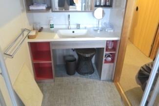バリアフリールームの洗面所の画像